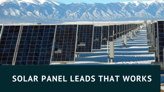 solar panels with snow around