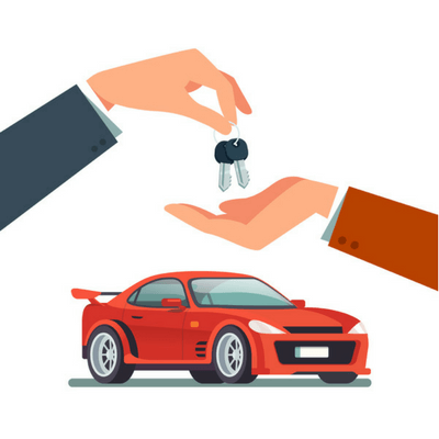 image of car keys in hand